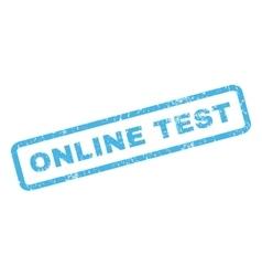 Online Test Rubber Stamp vector image