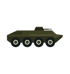 Armoured troop carrier wheeled icon flat style vector