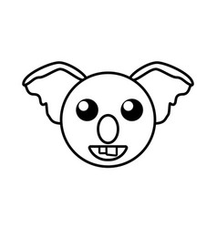 face koala animal outline vector image vector image