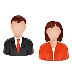 man and woman avatars vector image