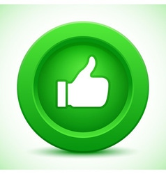 thump up green button vector image vector image