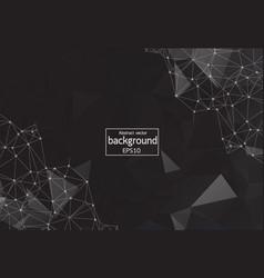 abstract dark composition black polygonal texture vector image