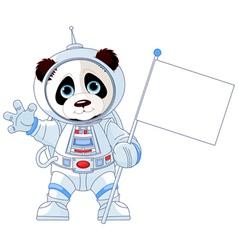 Astronaut Panda vector