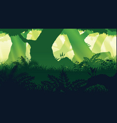 Background landscape with deep forest vector
