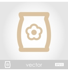 Bag sack flower seed icon vector