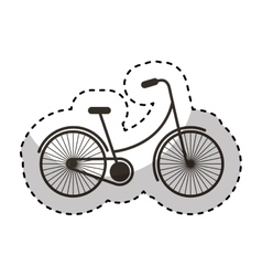 bicycle vehicle isolated icon vector image