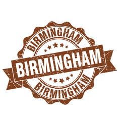 Birmingham round ribbon seal vector