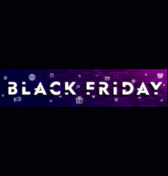 Black friday layout for website header design for vector