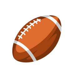 brown rugby ball vector image