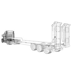 Cargo vehicle wire-frame eps10 format vector