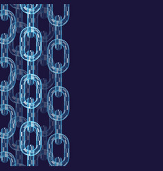 Chain links wallpaper vector