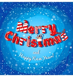 Christmas card poster banner with candies and vector image