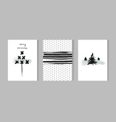 Christmas set - typographic cards for your design vector