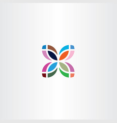 colorful leaf logo business icon symbol sign vector image