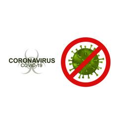 Concept stop virus covid-19 coronavirus vector
