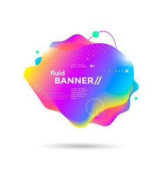 creative design fluid banner with gradient shapes vector image