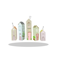 cute little house vector image