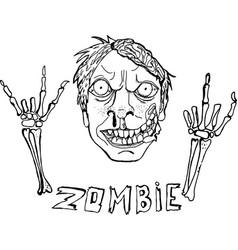 Cute zombie vector