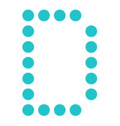 Digital letter d display board round dot vector
