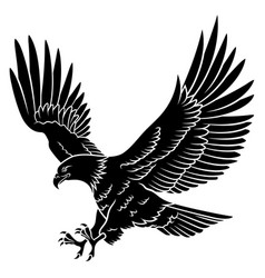 Eagle silhouette 005 vector
