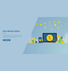 Earn money online business for freelancer with vector