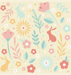 easter seamless patterns spring pattern vector image