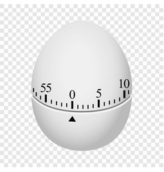 Egg timer mockup realistic style vector
