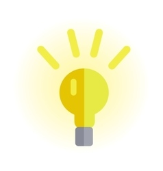 Electric Light Bulb In Flat Design vector image
