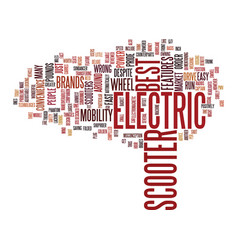 Electric scooter brands text background word vector