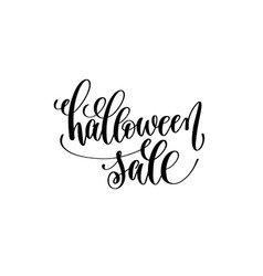 halloween sale hand lettering holiday inscription vector image