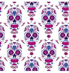 Hand drawn mexican day of the dead seamless vector