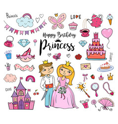 Happy birthday princess vector