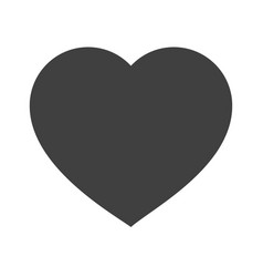 Heart icon valentine day sign vector