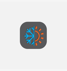 Hot and cold symbol icon vector