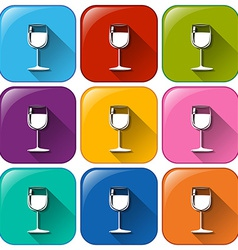 Icons with wineglasses vector image
