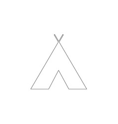 indian tepee flat icon vector image