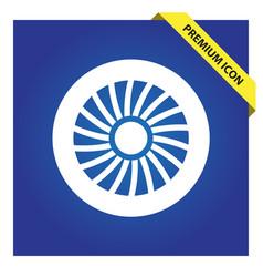 Jet engine icon vector