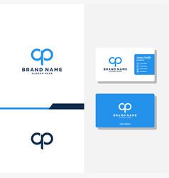 Letter ap concept logo designs business card vector