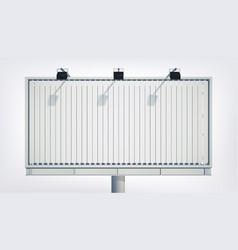 light horizontal billboard vector image