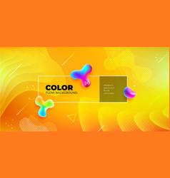 liquid color background design yellow fluid vector image