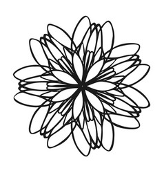 logo flower icon simple style vector image