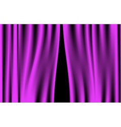 Luxury creases purple curtain vector image