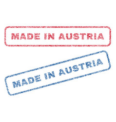 Made in austria textile stamps vector