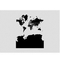 map - high detailed black map with vector image