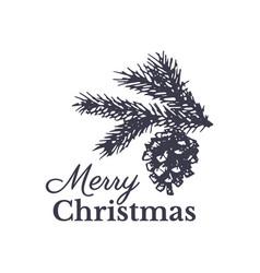 Merry christmas hand drawn card design vector