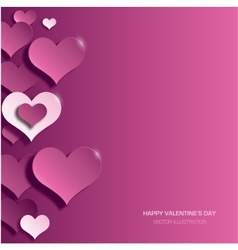 modern bright valentines day background vector image