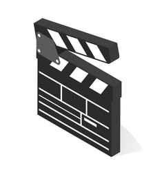 movie film clap board black icon design vector image
