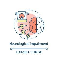 Neurological impairment concept icon vector