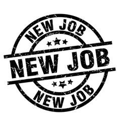 New job round grunge black stamp vector