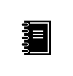 notebook notepad flat icon vector image